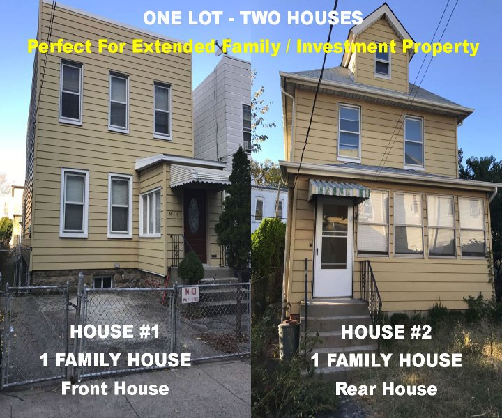 TWO HOUSES ONE LOT=Perfect Home & Rental Income Opportunity