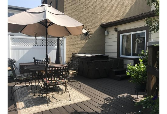 Raised Backyard Deck with HOT TUB
