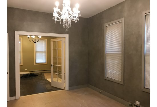 French Doors Between Living Room & Formal Dining Room