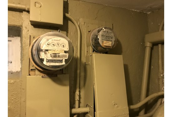 2 Separate Electric Meters for both House & Accessory Unit (Located in Front House)