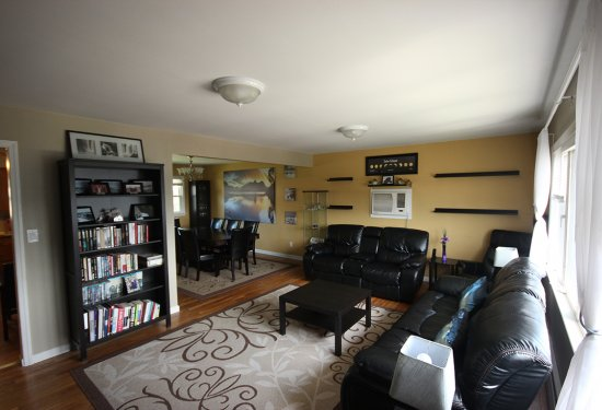 2nd Fl Apartment: Living Rm open to Dining Rm