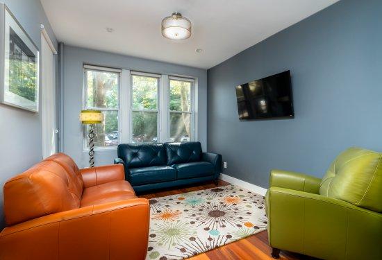 1st Fl: Living Area open to DESIGNER Kitchen