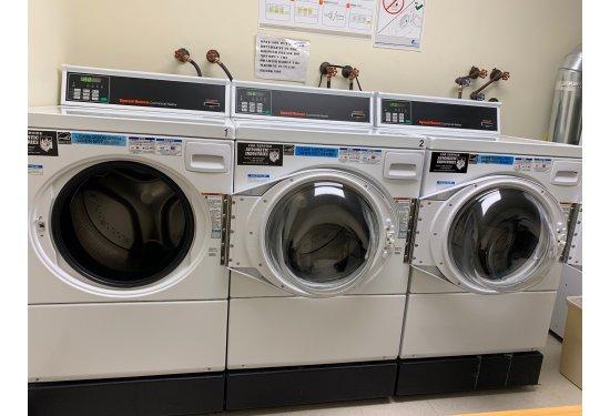 Laundry Area: 3 Washers+2 Dryers & Folding Station