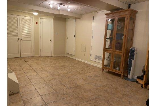 Open Spacious Basement Recreation Room