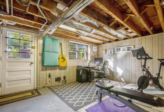 Semi Finished Basement with Home Office/Gym Area, Utility/Laundry Area and easy access to backyard and front driveway